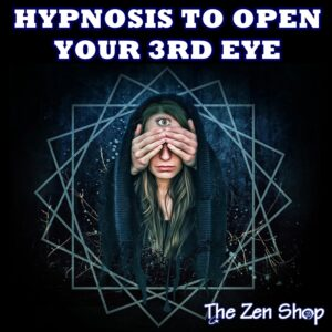 Woman covering her eyes with 3rd eye to represent hypnosis to open your third eye