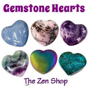 Crystal Gemstone Puffed Hearts