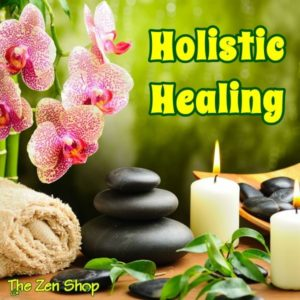 Candles, zen rocks, flowers and herbs for holistic healing services