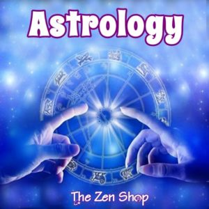 Two hands pointing to the Astrology Zodiac Wheel