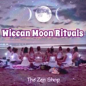 Group of women sitting in circle under moon for ritual session