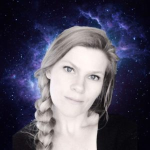 Alison Spratt with universe background
