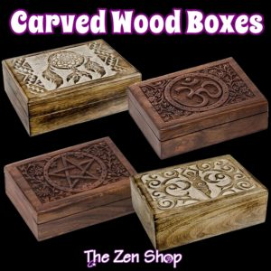 Carved Wood Boxes